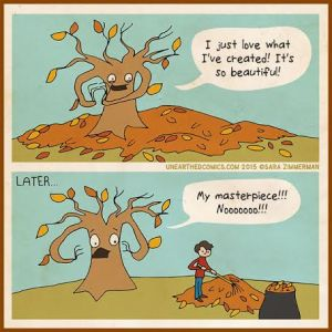 Unearthed Comics. Fall. Leaves. All the goodness.